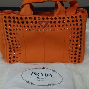 Authentic Prada Party Style Canapa Studs